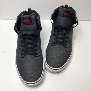 Men's Vans High Tops Sneakers Heather Gray & Black